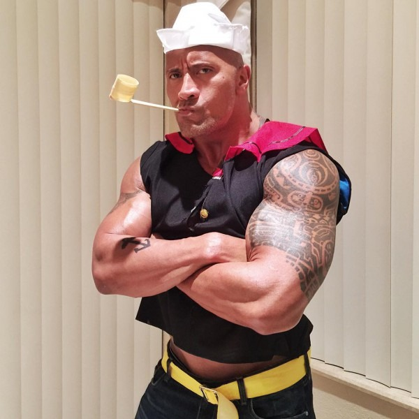 The Rock As Popeye