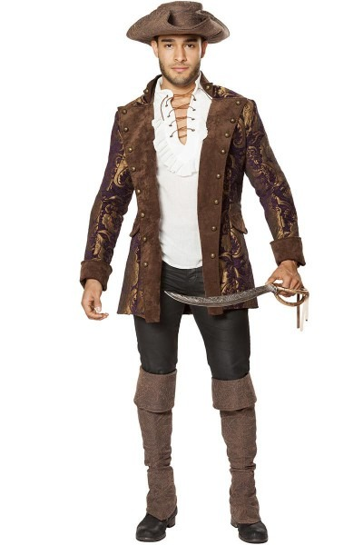 Men's Authentic Looking And Rustic Pirate Costume Jacket