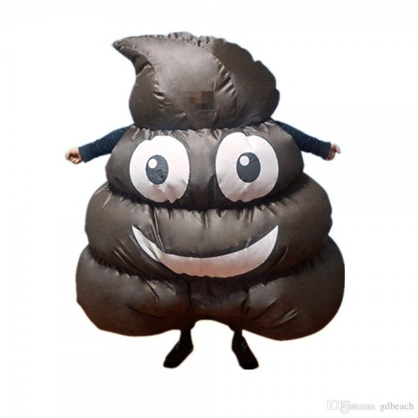 2017 New Hot Sell Inflatable Giant Poop Emoji Costume For Adult