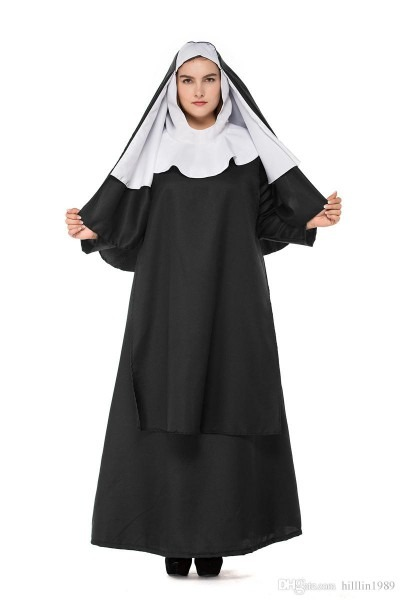 Plus Size Jesus Christ Virgin Mary Theme Costume Large Size Nun