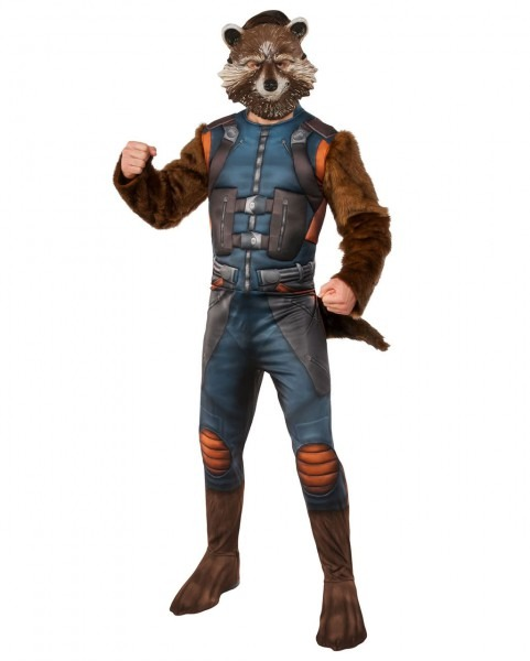 Rocket Raccoon Costume With Mask For Halloween
