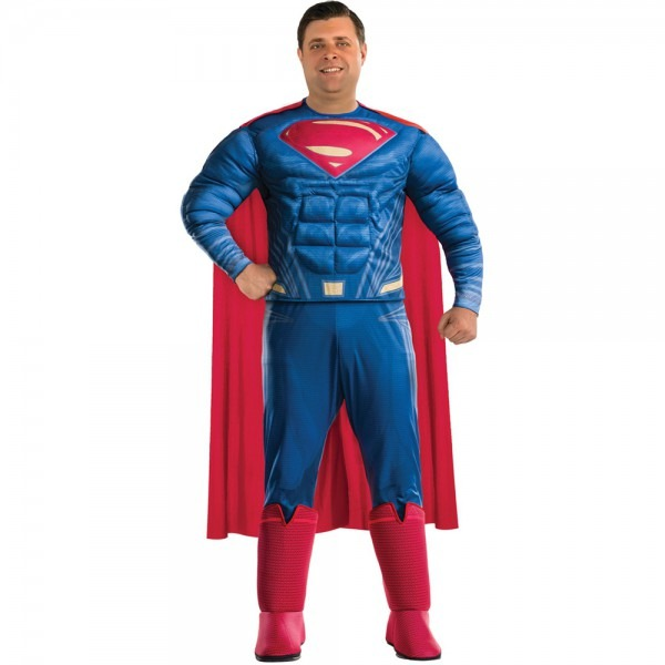 Mens Superman Justice League Big & Tall Halloween Costume