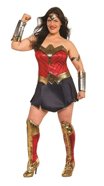 Justice League Movie Wonder Woman Deluxe Plus Size Costume