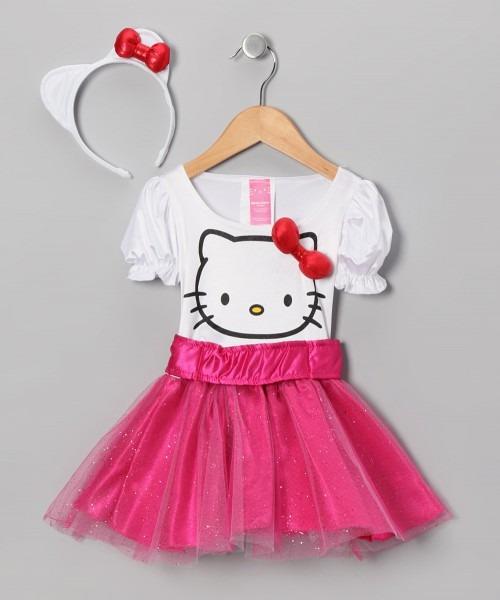 White & Pink Hello Kitty Dress
