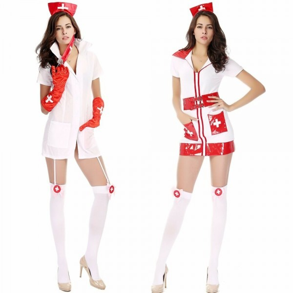Sexy Naughty Nurse Lingerie Doctor Roleplay Costume Babydoll Dress