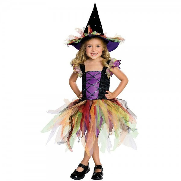 Rubies Let's Pretend Girls Child Glitter Witch Costume, Size