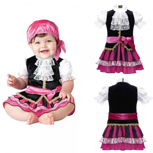 Infant Baby Girls Halloween Fancy Costume Sea Pirate Cosplay Party