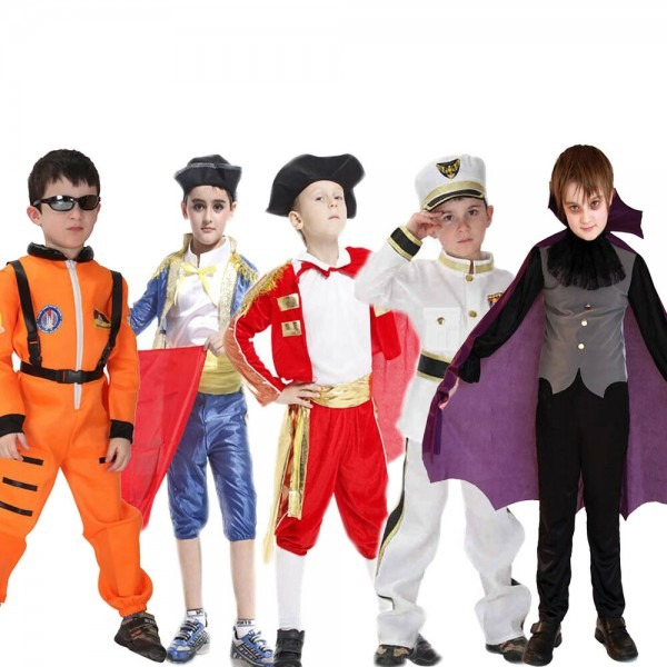 Kids Boy Costume Pilot Junior Astronaut Costume Police Uniform