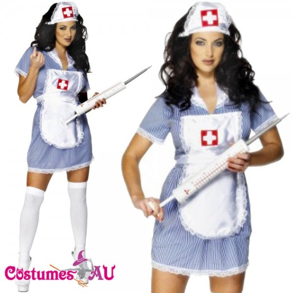 Ladies Naughty Nurse Doctor Uniform Halloween Fancy Dress Party