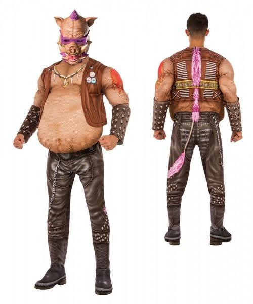 Mens Deluxe Tmnt Bebop Pig Halloween Costume