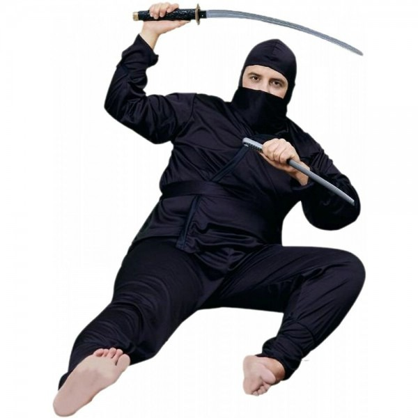 Ninja Costume Adult Plus Size Big And Tall Halloween Fancy Dress
