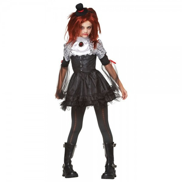 Scary Doll Costume Kids Victorian Vampire Gothic Halloween Fancy