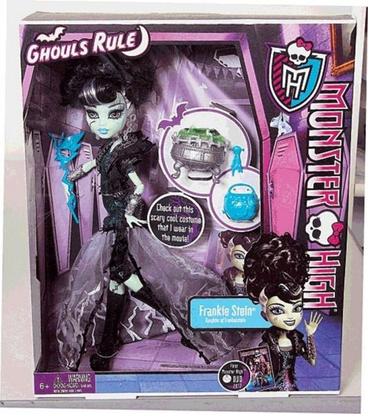 New! Monster High Frankie Stein Gift Set Ghouls Rule Doll Clothes