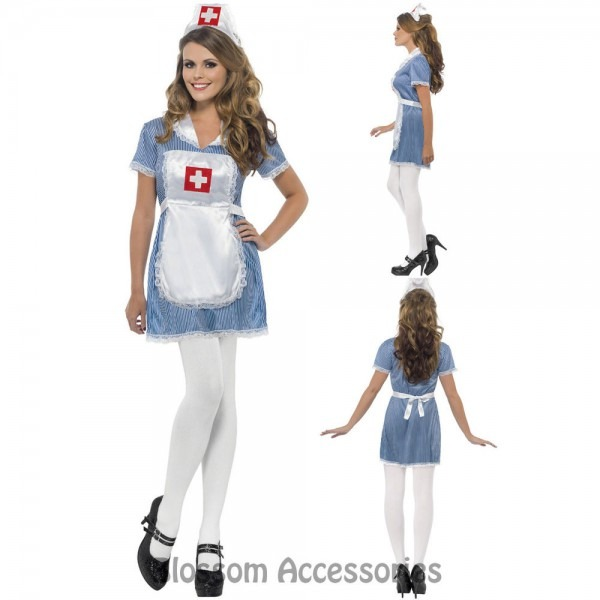 Cl360 Ladies Naughty Nurse Medical Doctor Er Hospital Fancy Dress