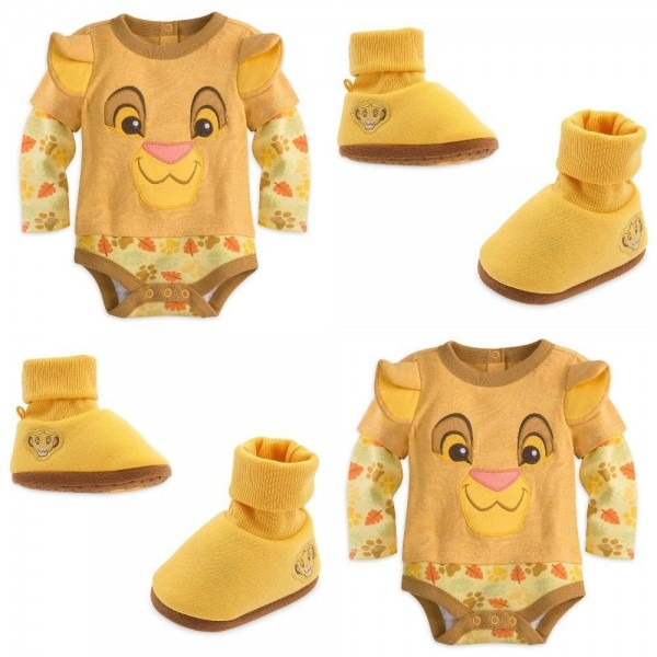 Disney Store Simba Baby Bodysuit Costume Dress Up Shoes Nala Lion