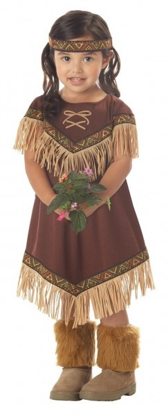Toddler Indian Princess Native American Thanksgiving Costume