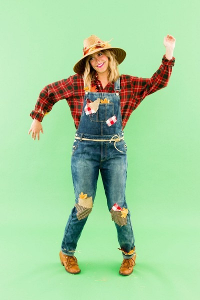 Diy This Last Minute Scarecrow Costume With Pieces From Your Own