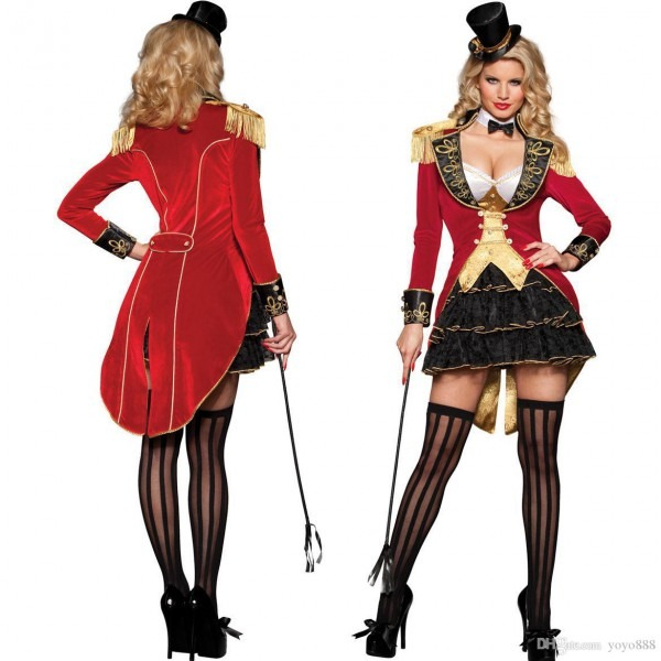 2019 Sexy Lingerie Carnival Ringmaster Ladies Fancy Dress Circus