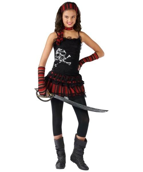 Skull Rocker Kids Pirate Costume