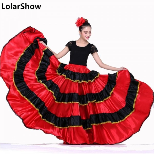 Spanish Dance Costumes For Women Flamenco Dance Skirt Belly