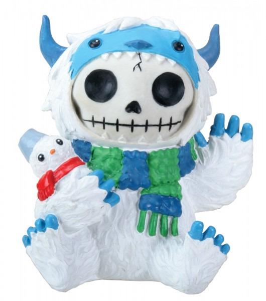 3 5 Inch Furry Bones White And Blue Yeti Halloween Costume Figurine