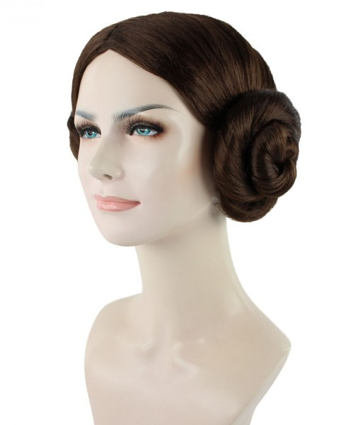 Star Wars Princess Leia Costume Wig (carrie Fisher Style) Hw 1096
