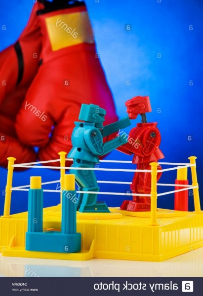 Stock Photo Rock Em Sock Em Robots A Classic Game By Mattel Toys