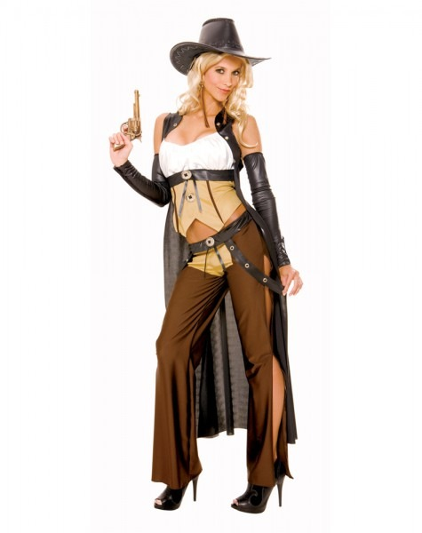 Cowboy Cowgirl Costume & Pink Cowgirl Adult Costume · Wanted
