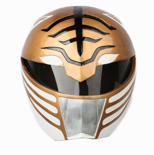 White Ranger Helmet Racing Style Power Rangers Full Head Mask