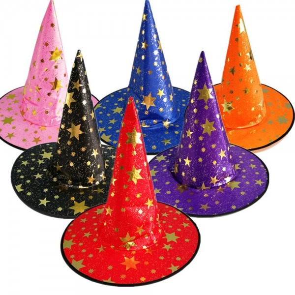 Whole Sale Witch Hats Masquerade Ribbon Wizard Hat Party Hats Caps