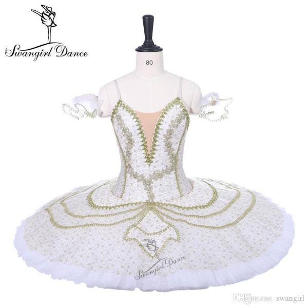 2019 Women White Gold Princess Professional Tutus Adult Sleeping