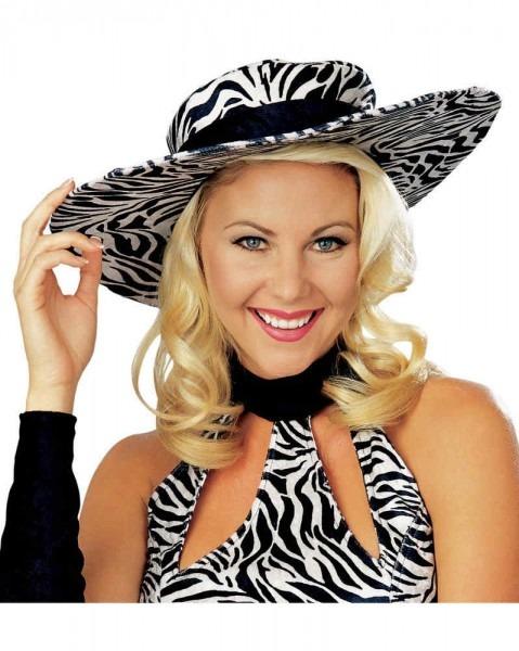 Zebra Print Wild Thang Pimpette Hat