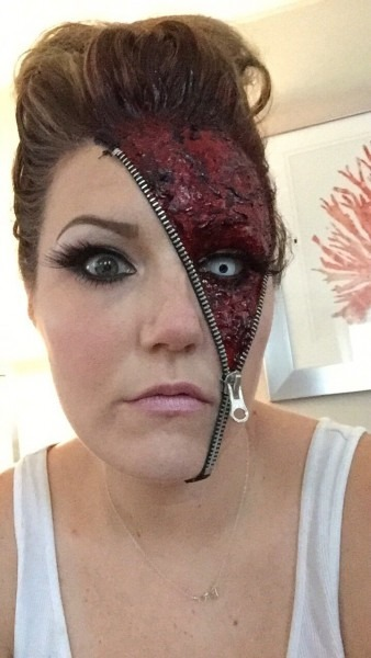 Awesome  Unzipped  Zipper Halloween Makeup Ideas
