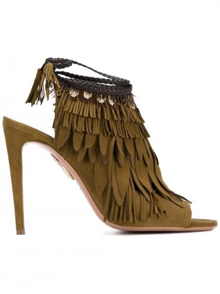 Aquazzura Pocahontas Sandals 8b8 Cardamom Women Shoes,aquazzura