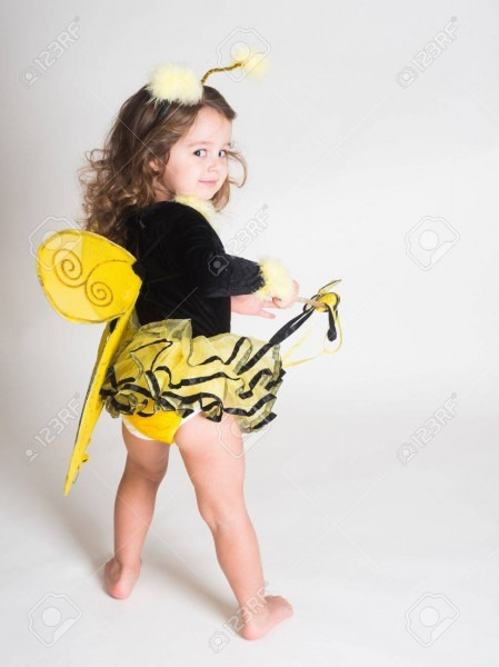 Toddler In Bee Costume Stock Photo, Picture And Royalty Free Image