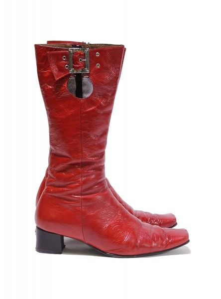 Red Patent Gogo Boots — Jade Palace