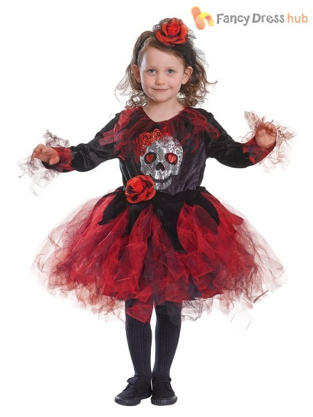 4  Children S Day Of The Dead Costume Dia De Los Muertos Sugar