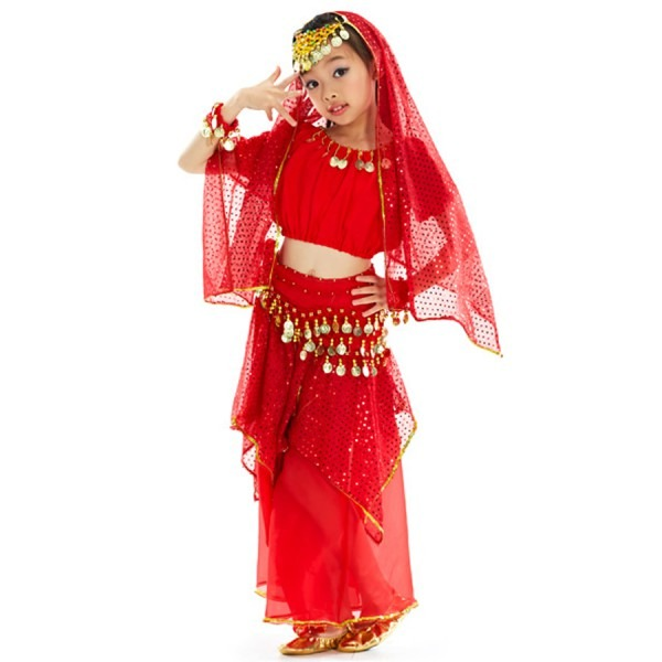 2018 New Belly Dance Costumes For Kids 7piece Fashion Indian