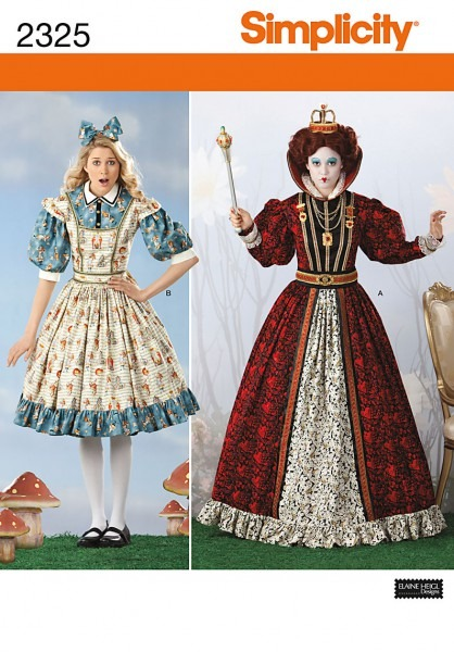 Simplicity 2325 Misses' Alice In Wonderland Costumes