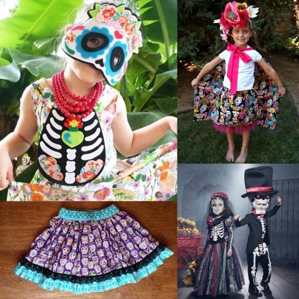 4  Children S Day Of The Dead Costume Dia De Los Muertos Sugar