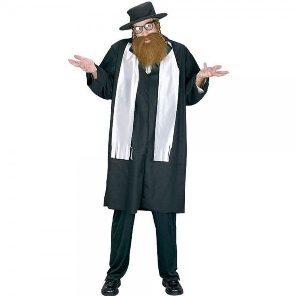 Amazon Com  Funworld Men's Adult Rabbi Costume, Black, One Size