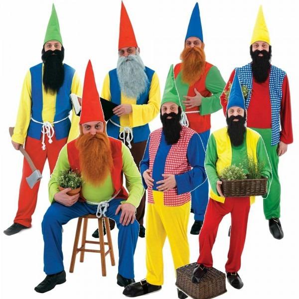Mens Snow White And The 7 Seven Dwarves Gnome Dwarf Fancy Dress