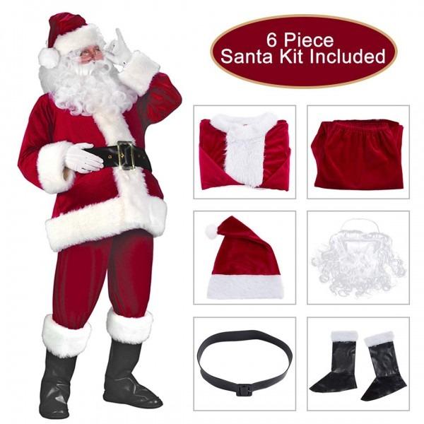 Amazon Com  Garne T Santa Claus Suit Christmas Santa Costume For