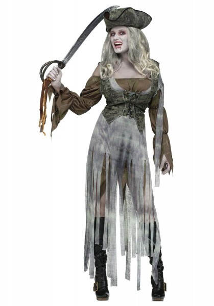 Pirate Zombie Costume, Pirate Fancy Dress