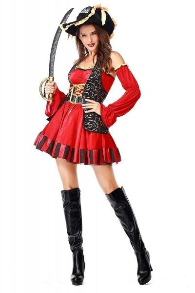 Amazon Com  Paniclub Womens Buccaneer Costume Spanish Pirate