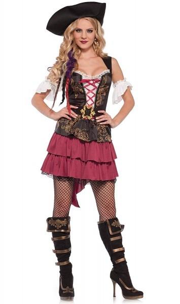 Amazon Com  Wonderland Costumes Womens 3 Pc Pirate Beauty