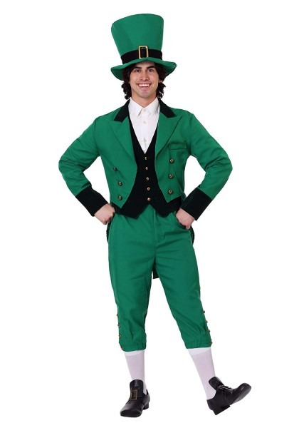 Amazon Com  St  Patrick's Day Gold Green Adult Leprechaun Costume