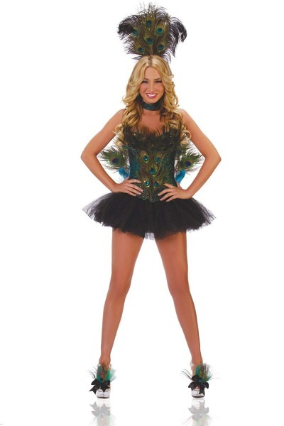 Amazon Com  Starline Women's Sexy 5 Piece Deluxe Peacock Costume