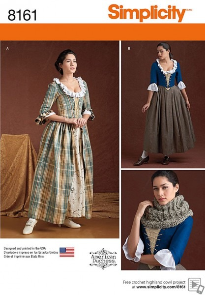 Simplicity Simplicity Pattern 8161 Misses' 18th Century Costumes