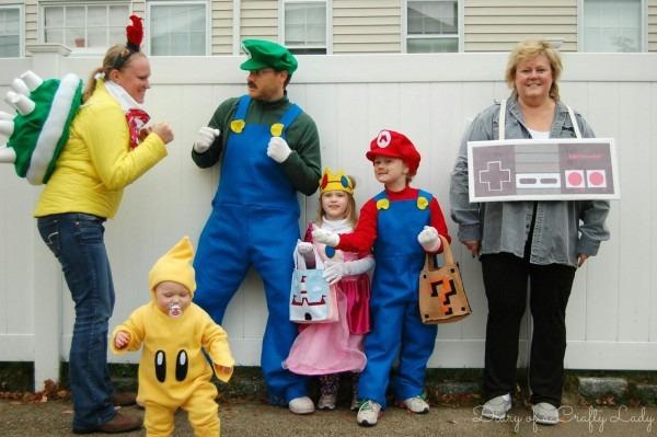 Super Mario Brothers Halloween Family Costume Idea